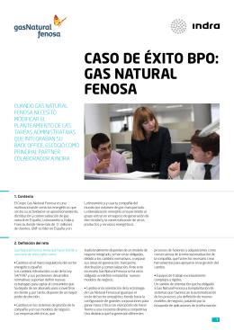 CASO DE ÉXITO BPO: GAS NATURAL FENOSA