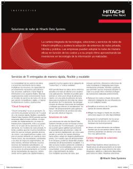 Soluciones de nube de Hitachi Data Systems