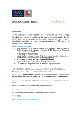 0 Carta de presentación Laude Adeslas Noviembre 2015
