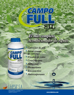 Campo Full SIL - Folleto Uruguay