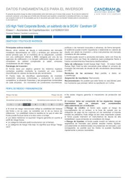 Key Investor Information: LU1220231333