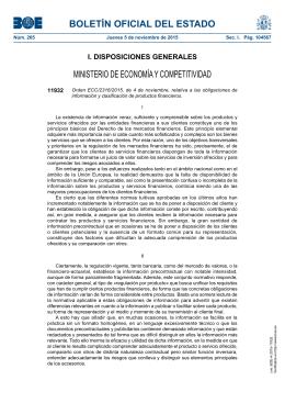 Orden ECC/2316/2015