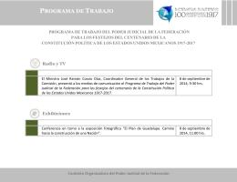 programa de trabajo - SCJN - Suprema Corte de Justicia de la Nación