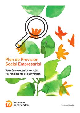 Plan de previsión Social Empresarial folleto
