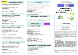 Folleto actividades curso 2013-2014