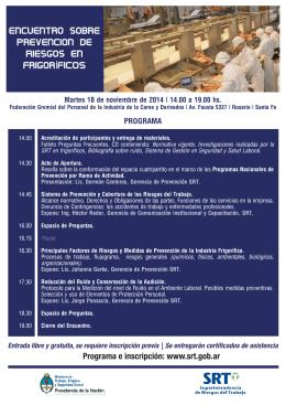 Encuentro sobre Prevencion de Riesgos en FrigorÍFICOS