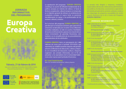 Folleto Europa Creativa 2014