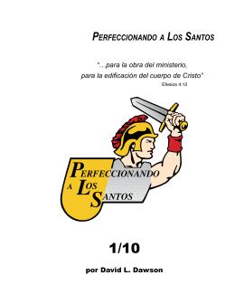 1/10 El Tiempo Devocional - Perfeccionando a Los Santos