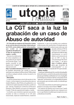 La CGT saca a la luz la grabación de un caso de