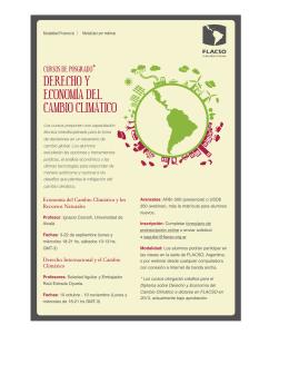 folleto agosto - Foro sobre Cambio Climático