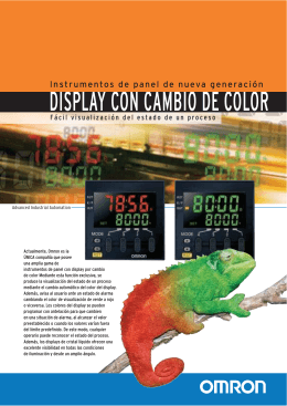 DISPLAY CON CAMBIO DE COLOR