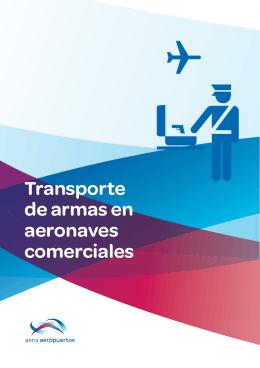 Transporte de armas en aeronaves comerciales