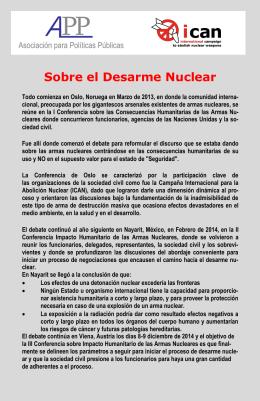 Los Parlamentarios y el Desarme Nuclear. PDF
