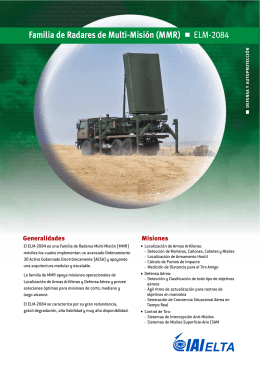 ELM-2084 Familia de Radares de Multi