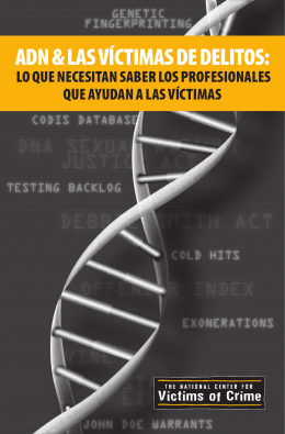 adn & las víctimas de delitos - the National Center for Victims of Crime