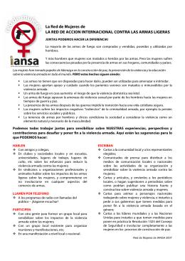 La Red de Mujeres de LA RED DE ACCION INTERNACIONAL