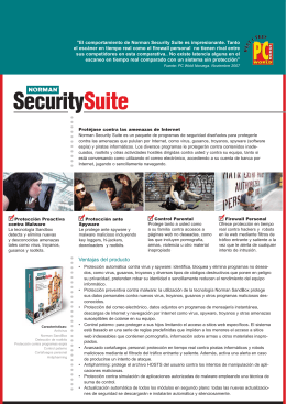 Folleto Norman Total Security Suite