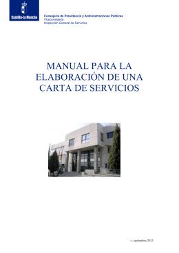 manual para la elaboración de una carta de servicios