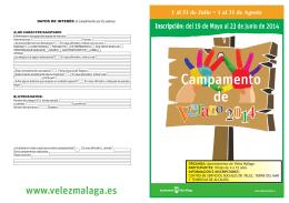 folleto CAMPAMENTO VERANO 2014