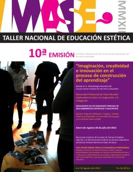 Folleto Taller Nal 2012 - Instituto Mexicano del Arte al Servicio de la