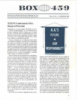 Junio-Julio 1986 - XXXVI Conferencia Mira Hacia el Porvenir