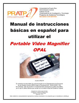 Portable Video Magnifier OPAL