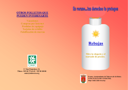 FOLLETO REBAJAS 2015 - OMIC