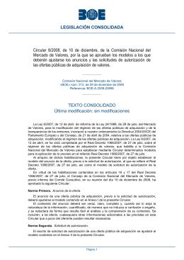 Circular 8/2008, de 10 de diciembre, de la Comisión