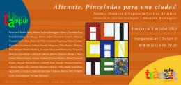 """Invitación Exposición """"Alicante, pinceladas para una ciudad"""""""