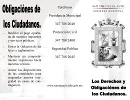folleto derechos ciudadanos - Gobierno Municipal de San Miguel el