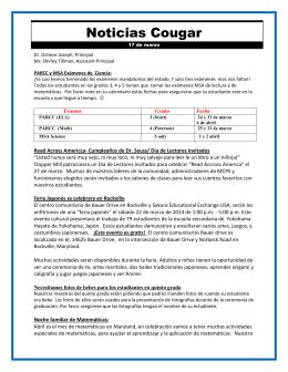 Noticias Cougar - Montgomery County Public Schools