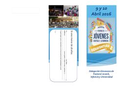 Aliquam mi. 9 y 10 Abril 2016 - Delegación de Pastoral Juvenil de