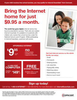 Bring the Internet home for just $9.95 a month.