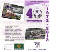 boceto folleto 40 aniversario san lorenzo 2012