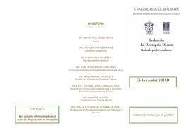 folleto EDD profesor 2012B.pub - Centro Universitario de Ciencias