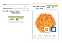 FOLLETO AULA ABIERTA - Fundación Encuentro