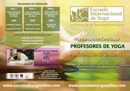 Formación Completa OnLine Profesores de Yoga