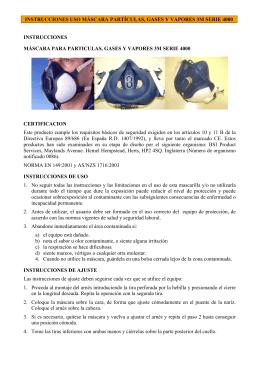 semimáscara filtrante - Unidad de Prevención de Riesgos Laborales