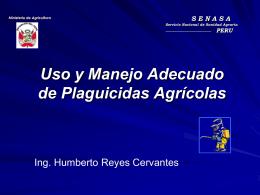 Uso y Manejo Adecuado de Plaguicidas Agrícolas