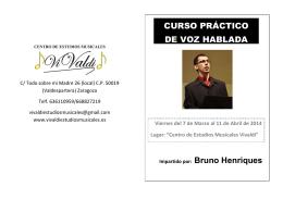 curso práctico de voz hablada - Centro de Estudios Musicales Vivaldi