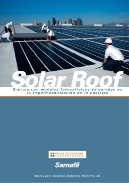 Folleto Solar Roof español