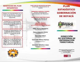 PLAN ESTADÍSTICO GOBERNACIÓN DE BOYACÁ