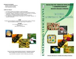 folleto licenciado en biología