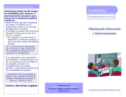 Education and Training Through CalWORKs (Spanish)