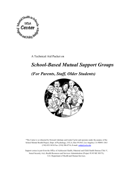 School-Based Mutual Support Groups