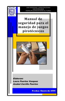 Manual de seguridad para el manejo de juegos pirotécnicos