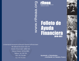Financial Aid Handbook Folleto de Ayuda Financiera