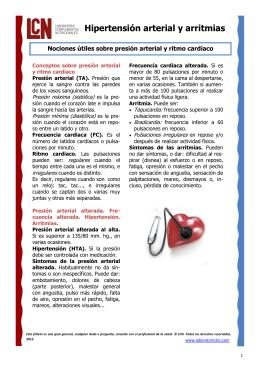Hipertensión arterial y arritmias