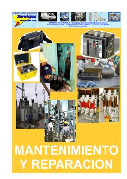 folleto mantenimiento - Servicios Eléctricos S.H.