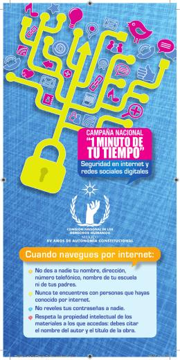 """tarjeta: campaña nacional """"1 minuto de tu tiempo""""."""